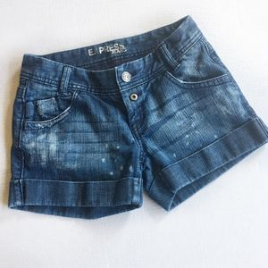 Express Distressed Cuffed Jean Shorts Size 0